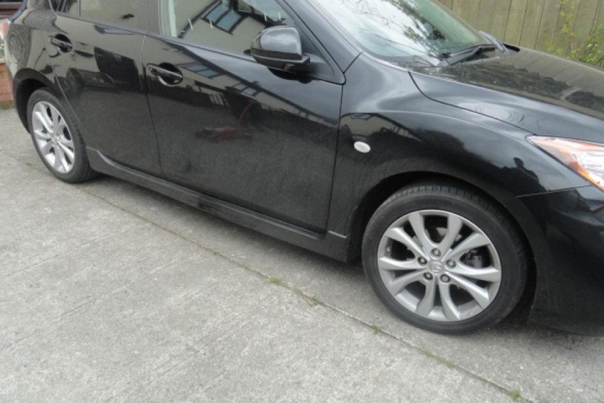 Mazda Wheels Before Refurbishment