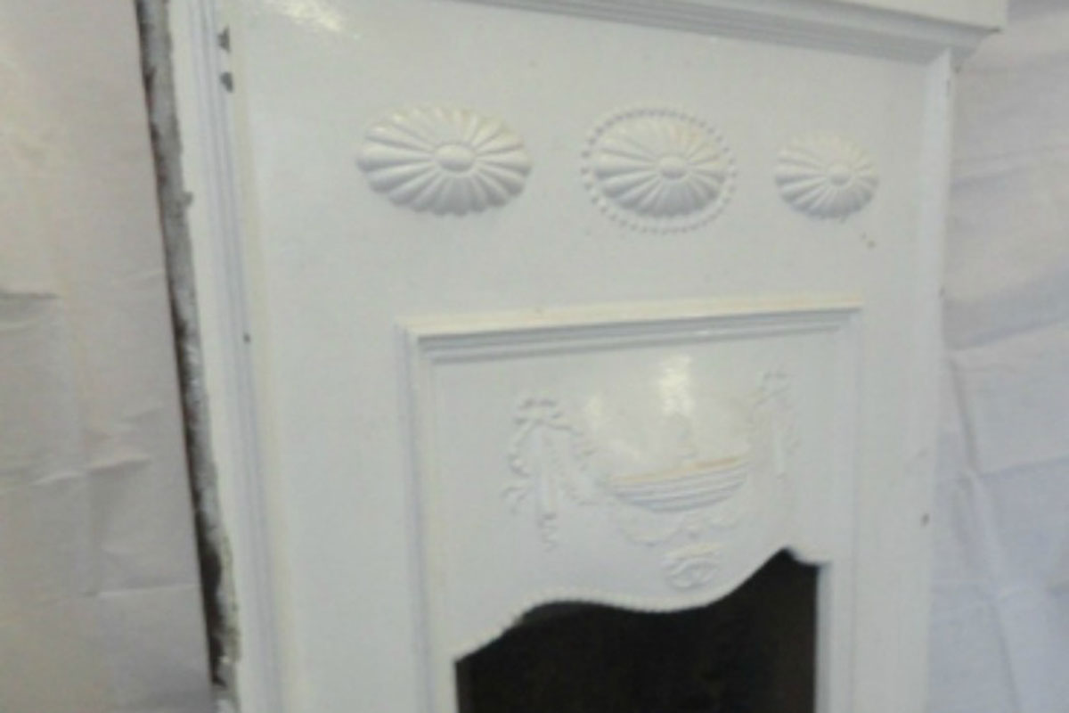Fireplace Before F&M Restored It