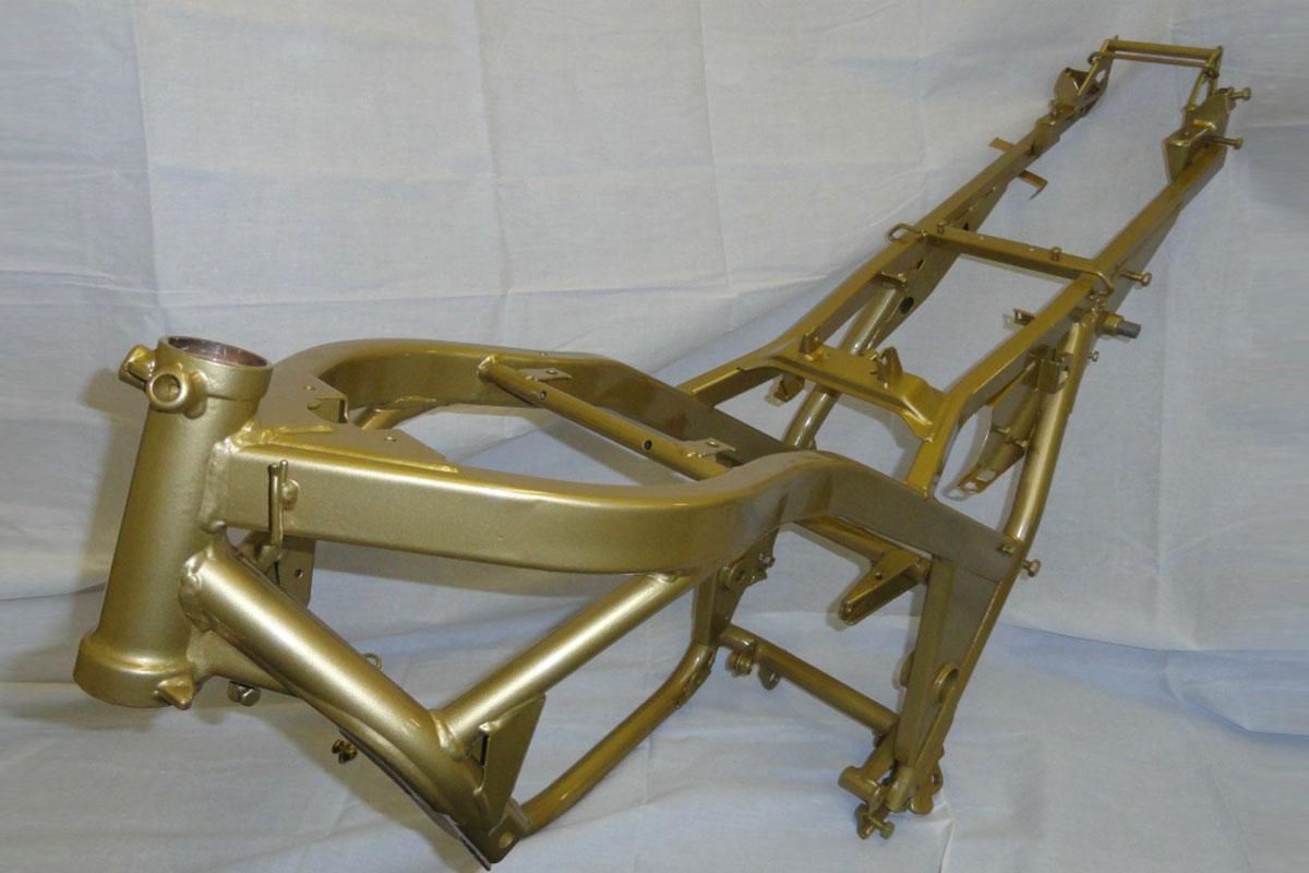 Restored Motorbike Frame